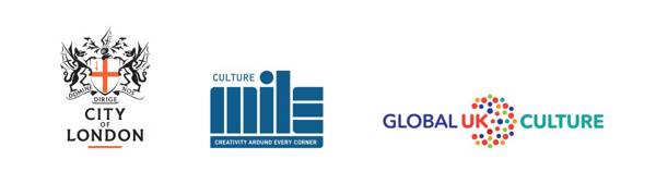 Culture and Commerce Taskforce logo - City of London Corporation, Culture Mile and Global Culture UK