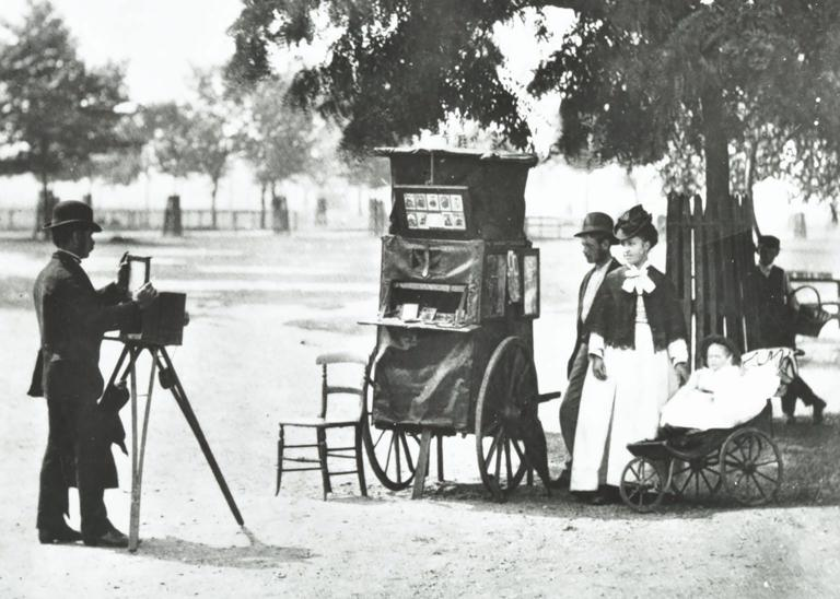 A Victorian photographer on Clapham Common, 1877